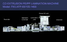 Machine de stratification de Co-Extrusion PE / PP