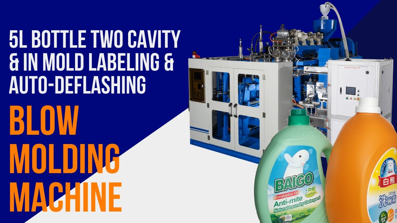In-Mold Labeling & Auto-Deflashing Blow Molding Machine